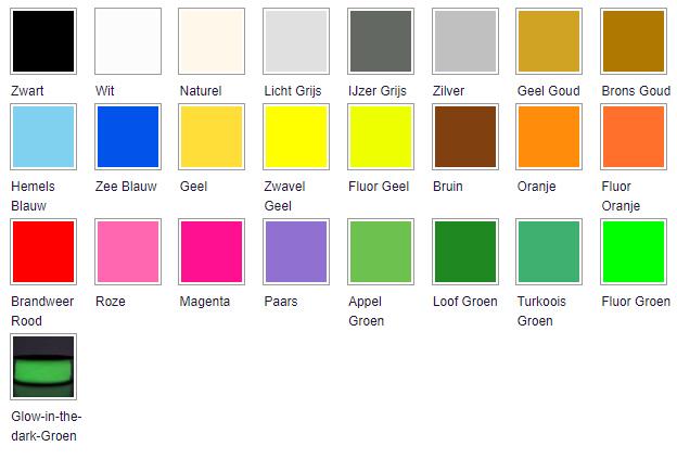 3d print service PLA beschikbare kleuren